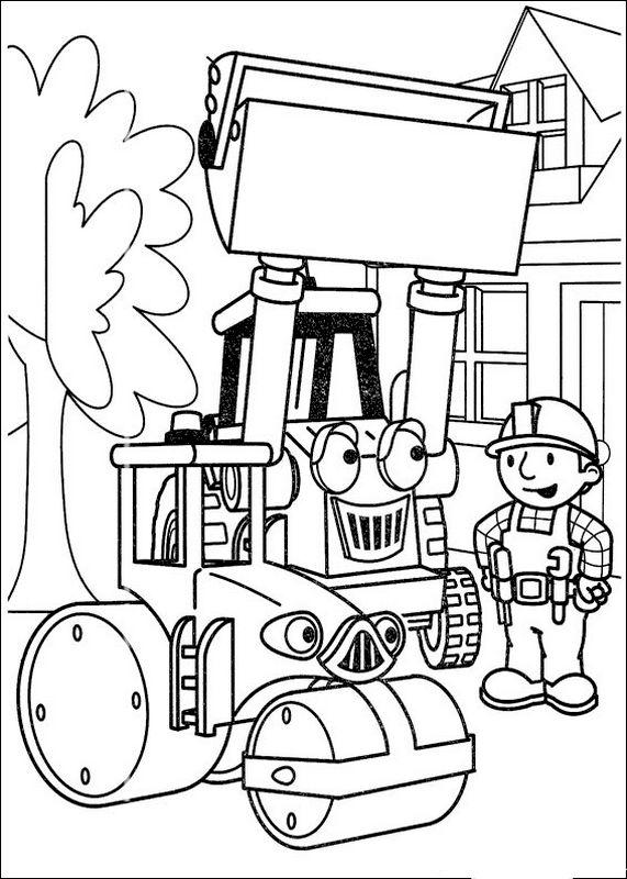 Coloriage de bob le bricoleur dessin les machines de travaux publics colorier - Build my home online image ...