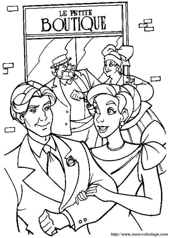Coloriage de Anastasia, dessin le couple et les parents à ...