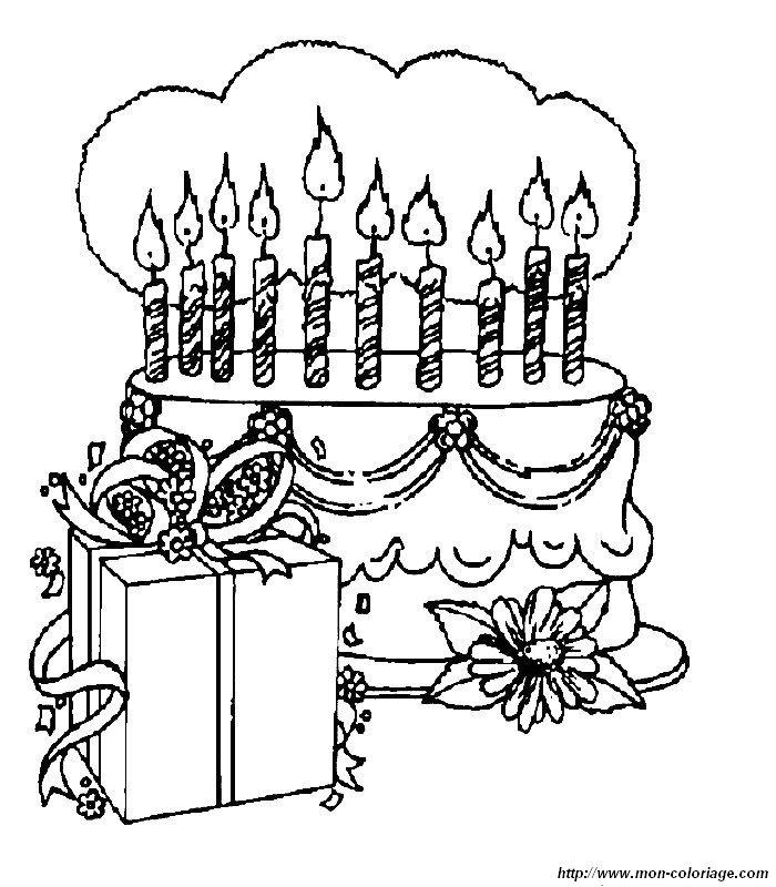 coloriage de anniversaire dessin anninversaire a colorier