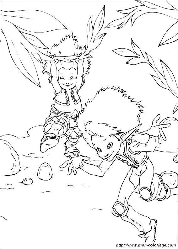 Coloriage : Arthur et les minimoys
