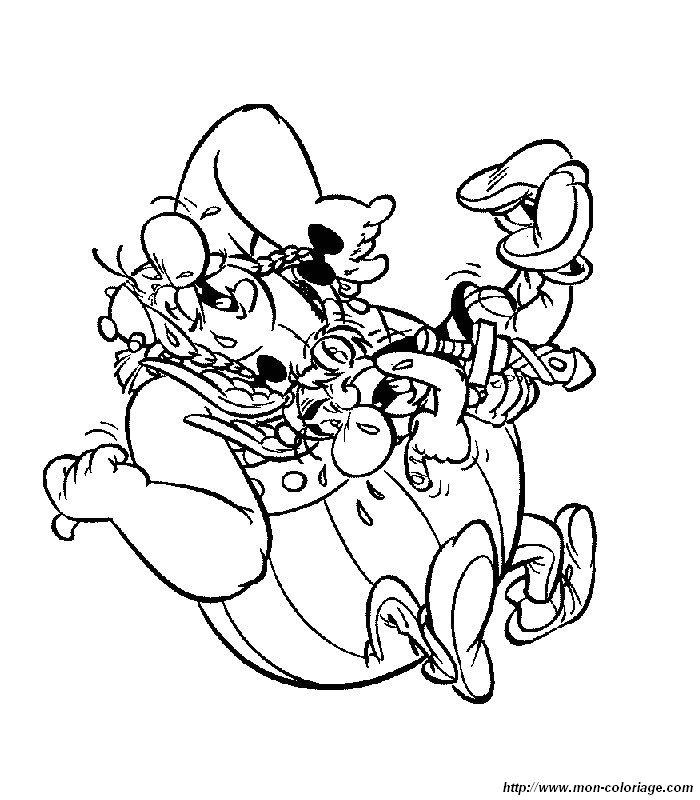 Coloriage de ast rix et ob lix dessin coloriage asterix - Asterix gratuit ...
