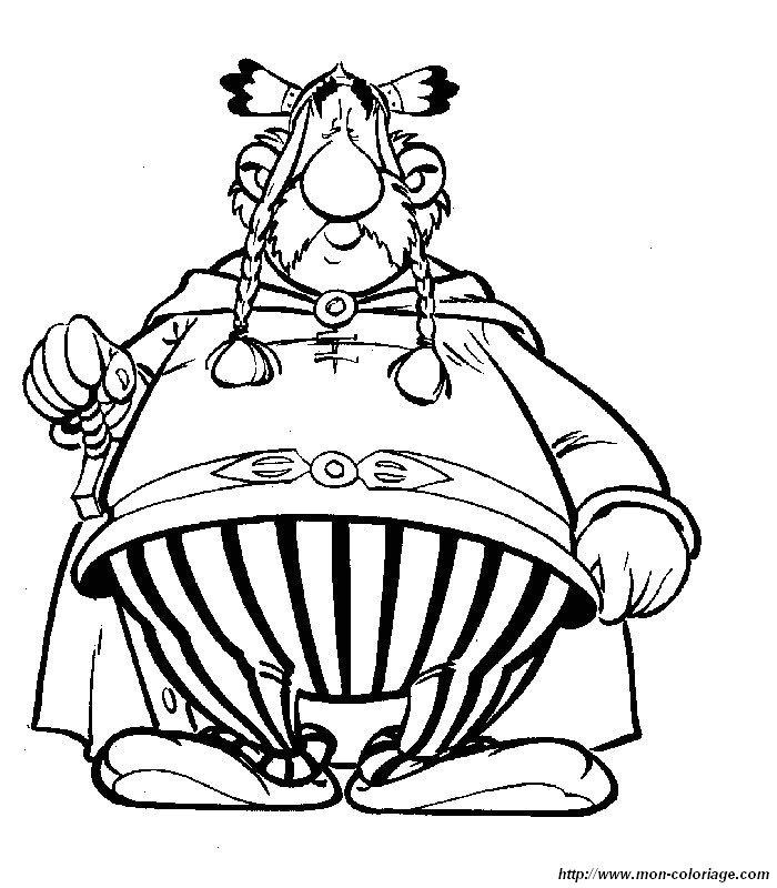 Coloriage de Astérix et Obélix, dessin coloriages asterix obelix à colorier