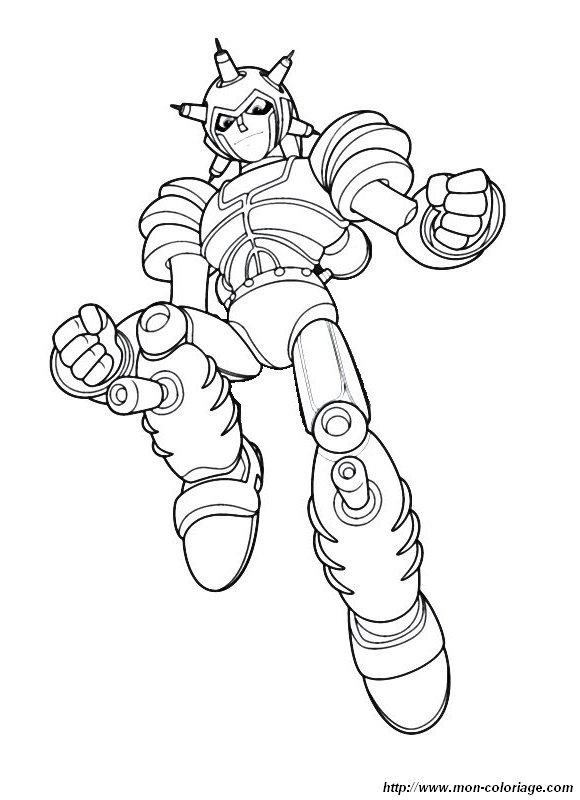 Coloriage de Astro Boy, dessin coloriage robot à colorier