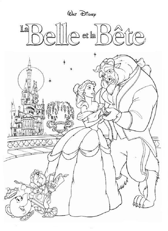 Coloriage De La Belle Et La Bête Dessin Tous Les Amis Du Film De