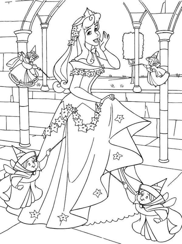 Coloriage Princesse Aurore.Coloriage De La Belle Au Bois Dormant Dessin La Princesse Aurore