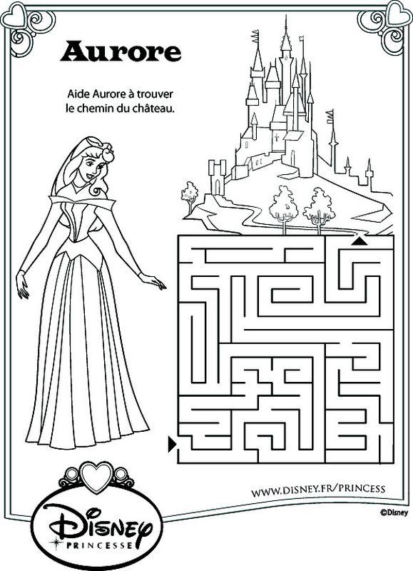 coloriage de la belle au bois dormant dessin pour trouver le chemin du chateau colorier. Black Bedroom Furniture Sets. Home Design Ideas