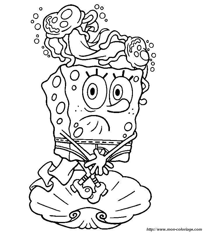 Coloriage De Bob Léponge Dessin Bob Eponge 9 à Colorier