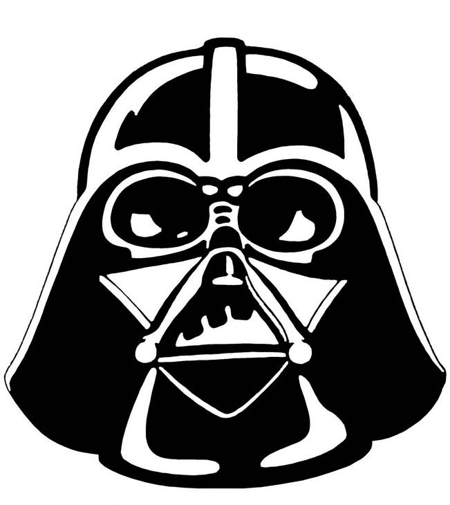Coloriage de carnaval dessin le masque de dark vador - Image dark vador ...