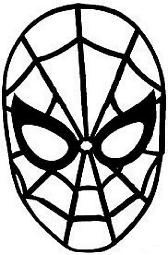 Coloriage de carnaval dessin masque de spiderman colorier - Tete de spiderman a imprimer ...