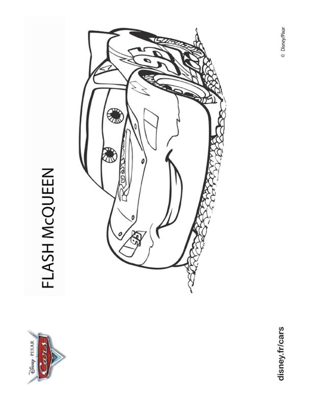 coloriage de cars dessin flash mc queen à colorier