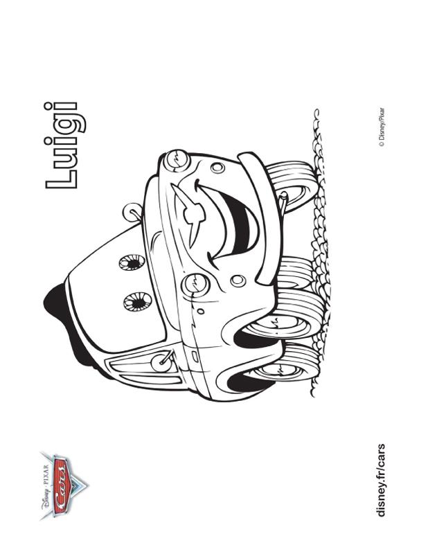 coloriage de cars dessin luigi fiat 500 italienne colorier. Black Bedroom Furniture Sets. Home Design Ideas