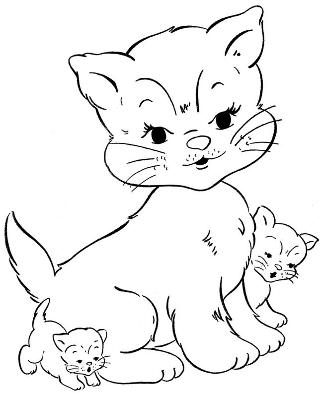 HD wallpapers coloriage imprimer chat