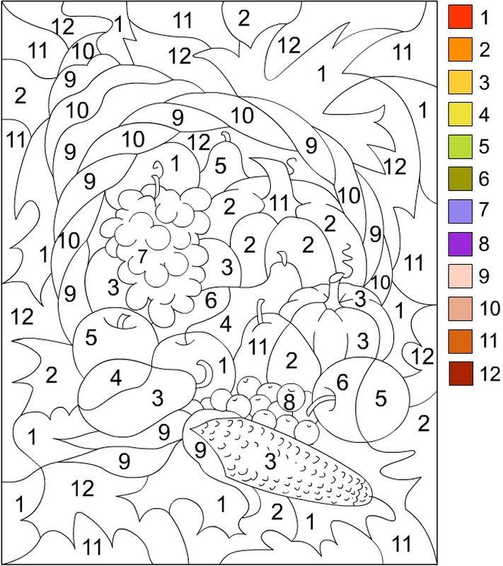 coloriage de coloriages magiques dessin colorier de nombreux fruits colorier. Black Bedroom Furniture Sets. Home Design Ideas