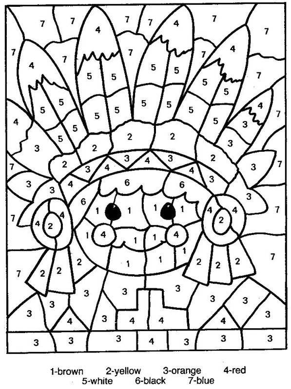 petit indien souriant - Coloriages Magiques