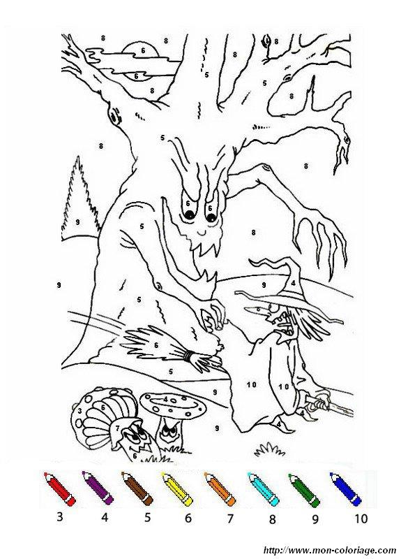 un arbre et une mechante sorciere
