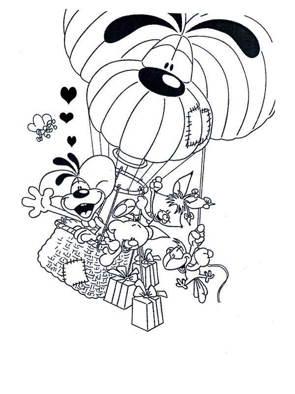 Dessin Au Revoir coloriage de diddl, dessin au revoir les amis à colorier