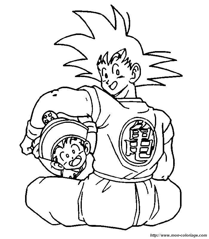 Coloriage de manga dragon ball z dessin 018 colorier - Dessin de sangoku ...