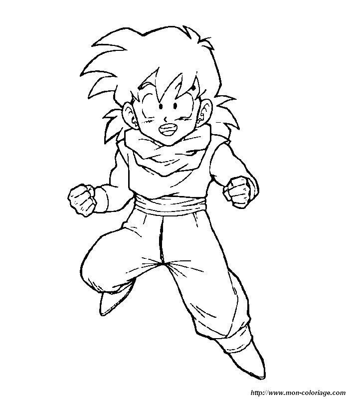 Dragon Ball Z Af Coloriage Gogeta