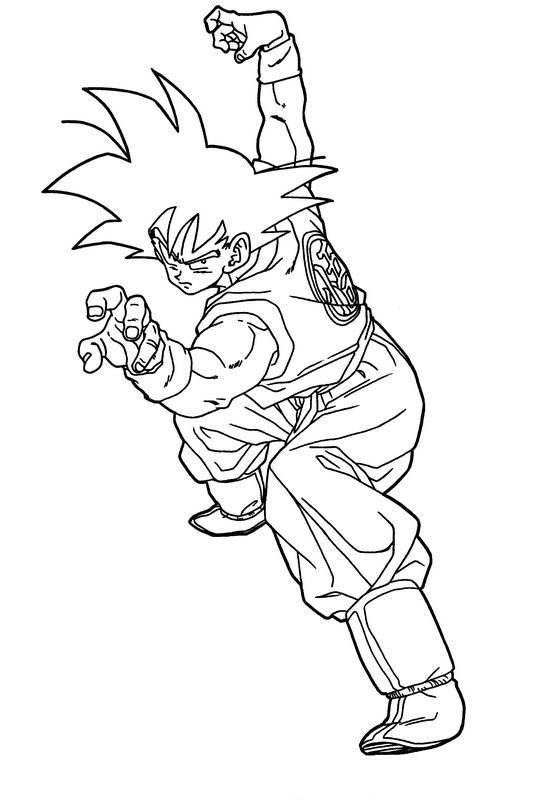 Coloriage de manga dragon ball z dessin goku seul espoir - Dessin de dragon ball ...