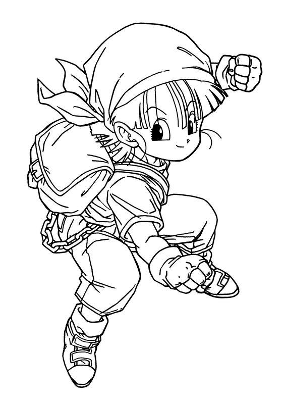 Coloriage de manga dragon ball z dessin il est petit mais for Arts martiaux pdf