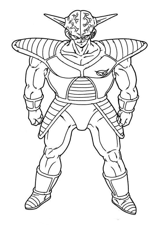 Coloriage De Manga Dragon Ball Z Dessin Le Capitaine De