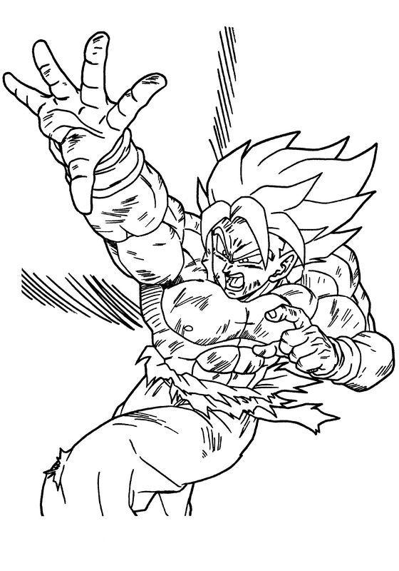 Coloriage de Manga Dragon Ball