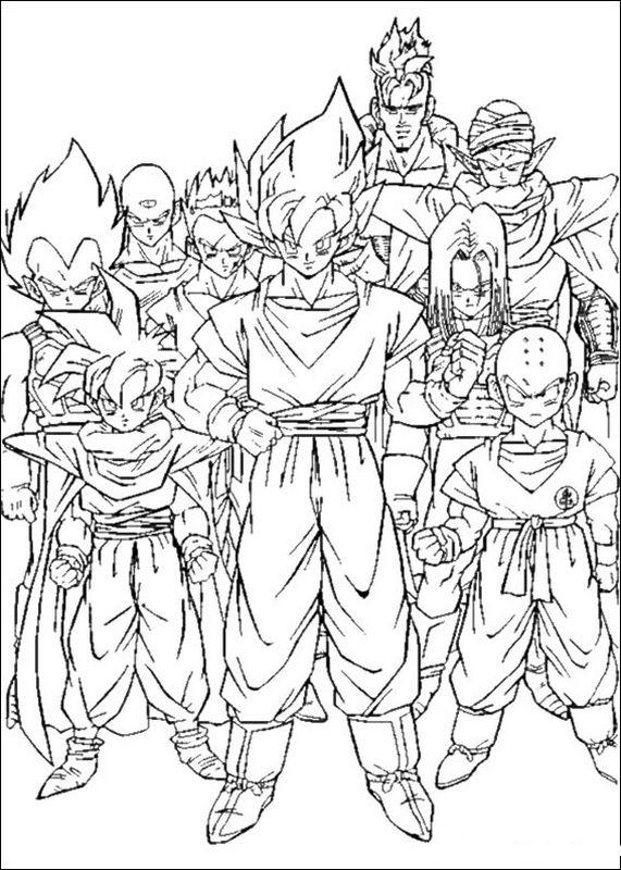 Coloriage de manga dragon ball z dessin le manga anime - Dessin manga dragon ball z ...