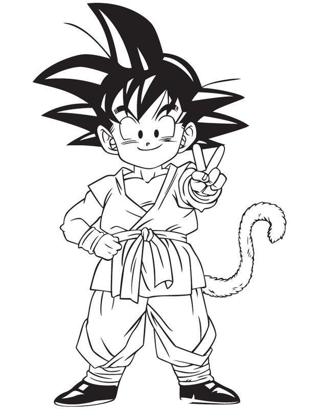 Coloriage de manga dragon ball z dessin san gohan nous - Dessin manga dragon ball z ...