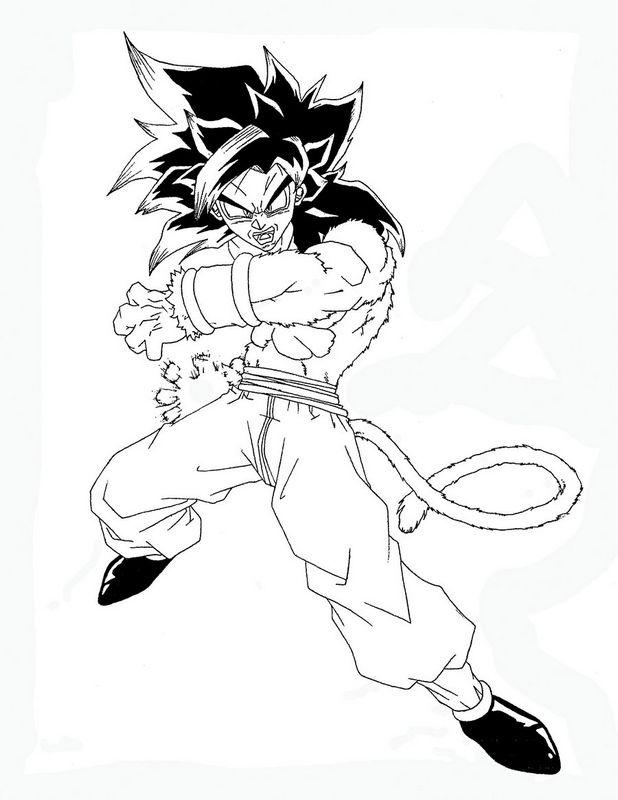 Coloriage de manga dragon ball z dessin un mode super - Dessin manga dragon ball z ...