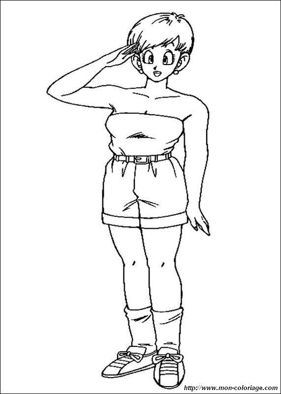 Coloriage De Manga Dragon Ball Z Dessin Bulma La Femme De