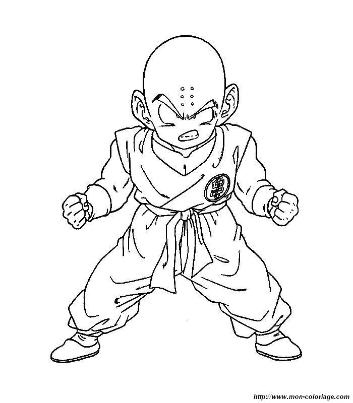 Coloriage de manga dragon ball z dessin dbz 06 colorier - Dessin manga dragon ball z ...