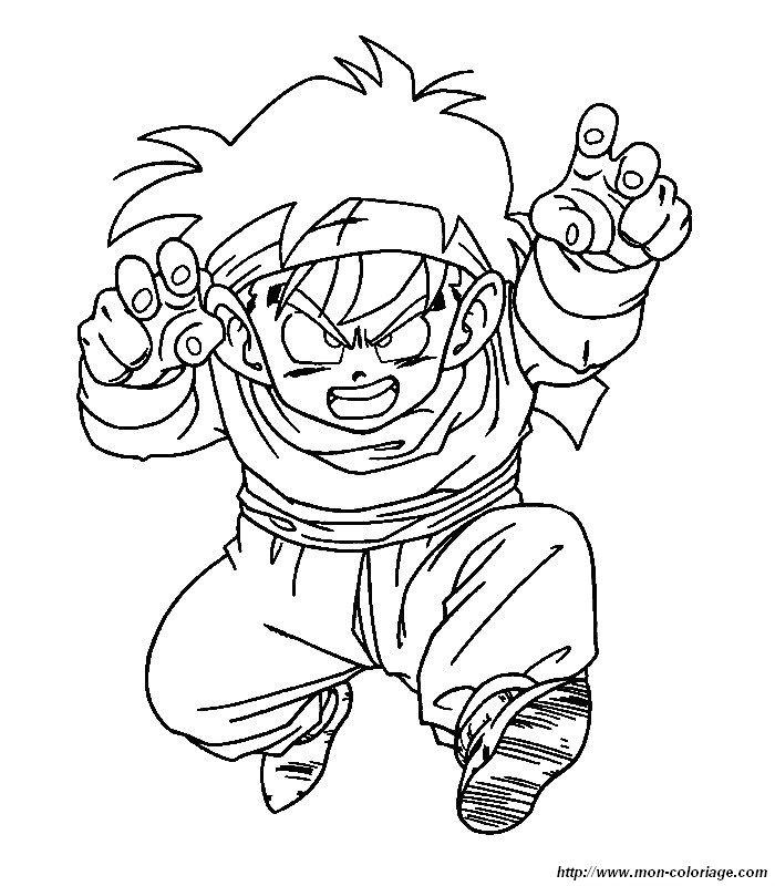 Coloriage de Manga Dragon Ball Z, dessin dragon ball z a ...