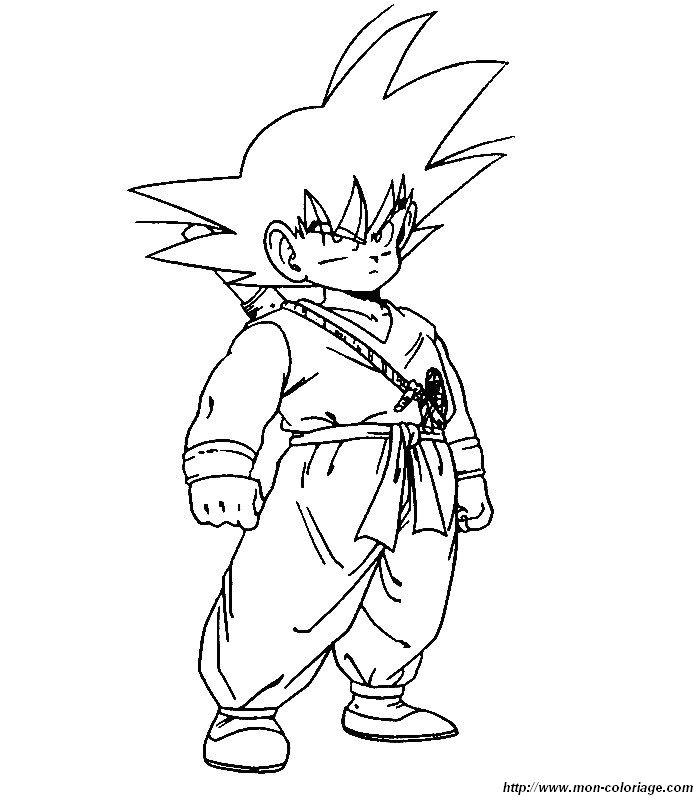 Coloriage de Manga Dragon Ball Z, dessin mon coloriage dbz ...