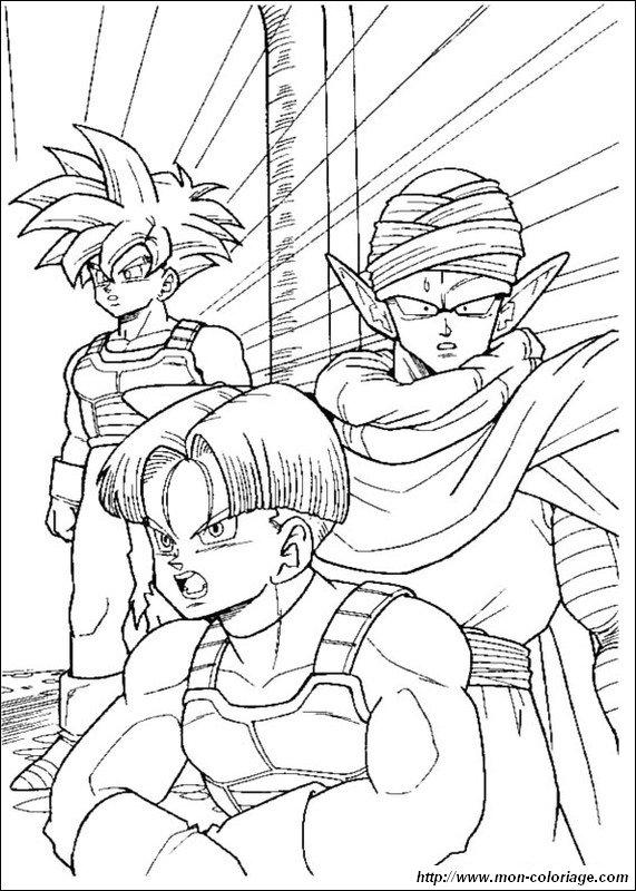 Coloriage de manga dragon ball z dessin sangohan avec - Dessin sangohan ...