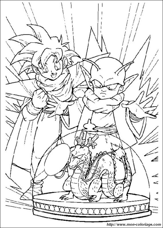 Coloriage de manga dragon ball z dessin sangohan avec un - Dessin sangohan ...