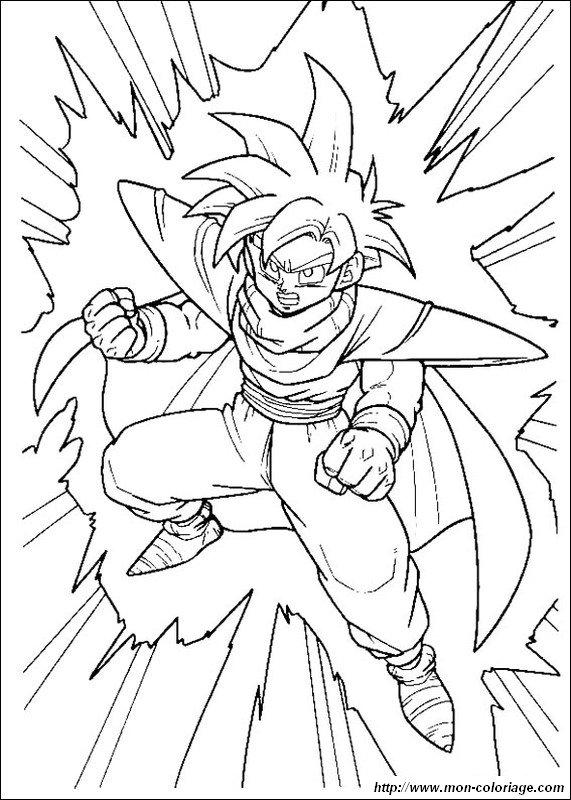 Coloriage de manga dragon ball z dessin sangohan colorier - Dessin sangohan ...