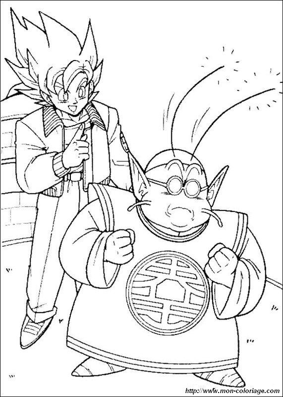 Coloriage de manga dragon ball z dessin sangoku avec - Dessin manga dragon ball z ...