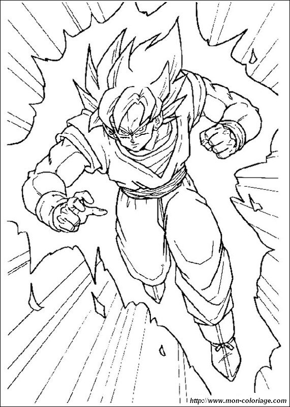 Coloriage De Manga Dragon Ball Z Dessin Sangoku