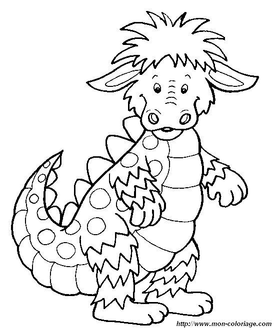 Coloriage de dragon dessin dragons colorier colorier - Dragon a colorier ...
