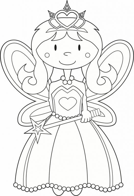 Souvent Coloriage de Fée, dessin Plus facile pour les petits enfants à  XZ49
