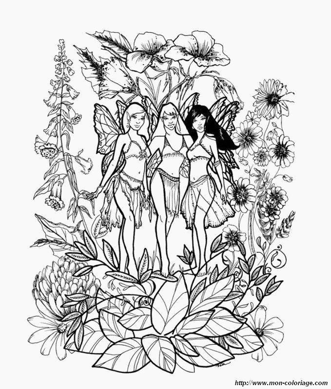 fees dans les fleurs