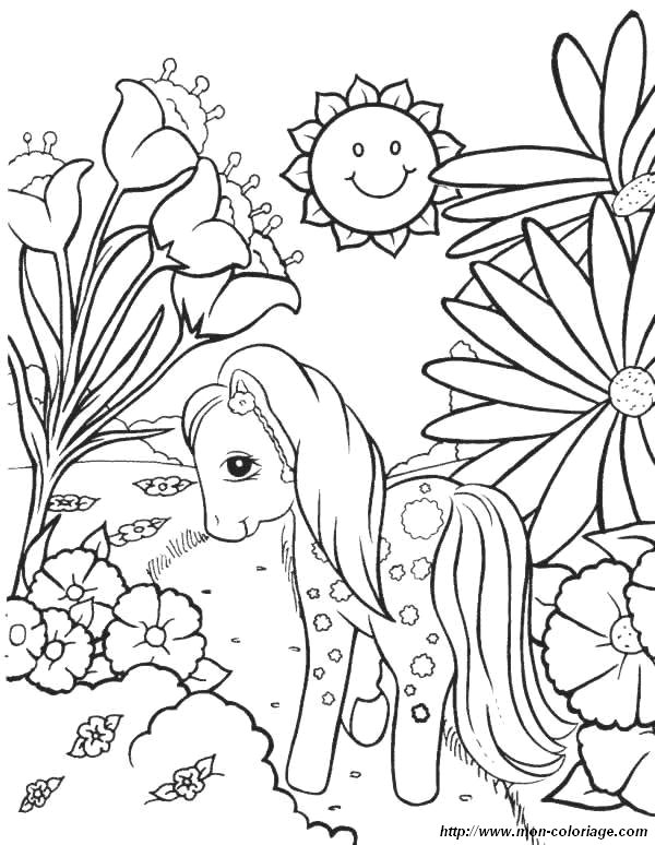 old my little pony coloring pages - coloriage de fleur dessin coloriage petit poney fleurs