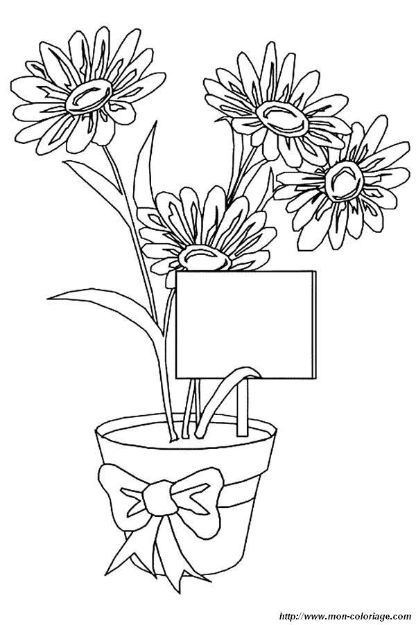 Coloriage de Fleur, dessin fleurs a colorier à colorier