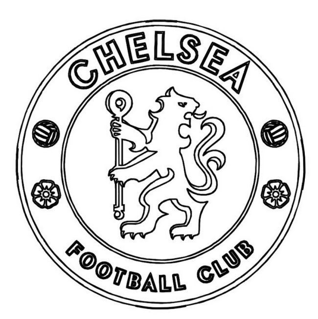 Free coloring pages of chelsea fc logo