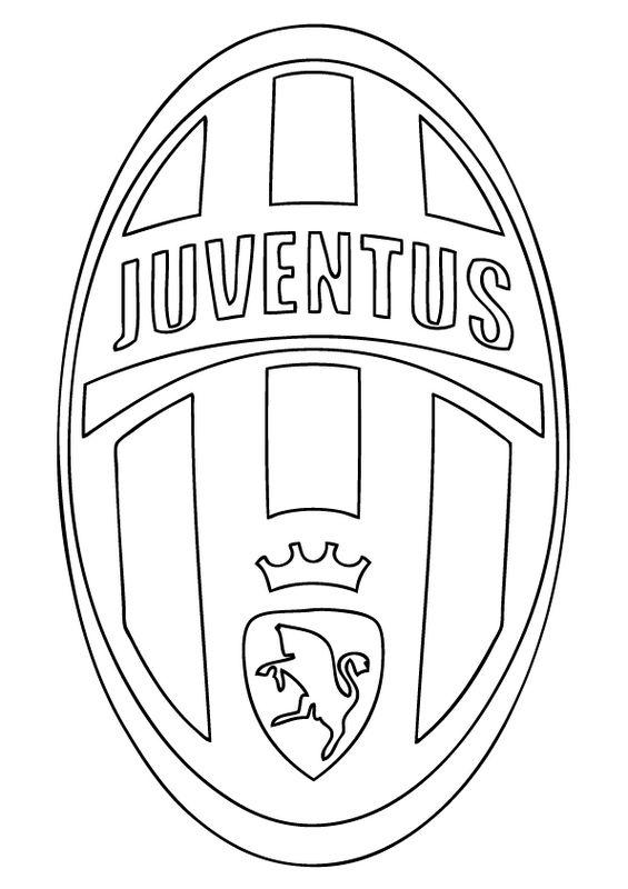 Coloriage De Football Dessin Juventus De Turin A Colorier