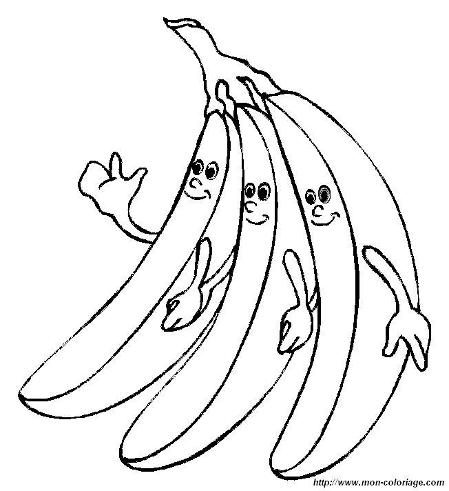 Coloriage De Fruits Dessin Coloriage Banane à Colorier