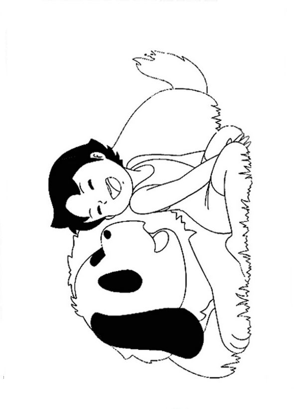 Coloriage De Heidi  Dessin Son Meilleur Ami Est Un Chien  U00e0