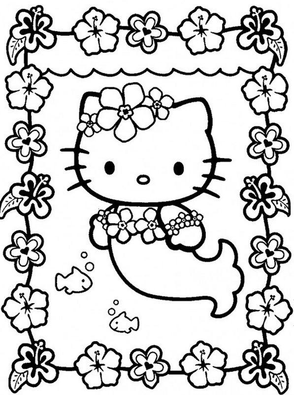 Coloriage de hello kitty dessin la petite sirene hello kitty colorier - Coloriage hello kitty et la licorne ...