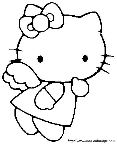 Coloriage de hello kitty dessin hello005 colorier - Hello kitty a colorier ...