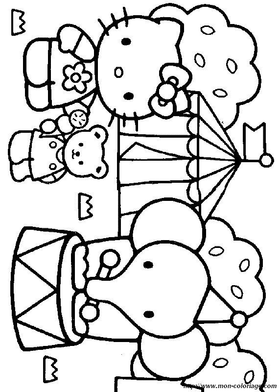 Coloriage de Hello Kitty, dessin hello051 à colorier